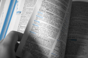 Cercare una parola sul vocabolario